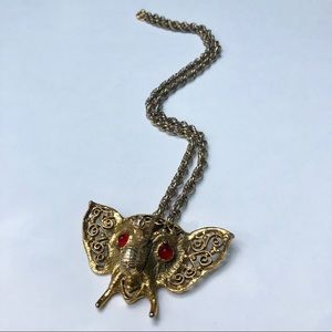 D & E Juliana Elephant vintage necklace.